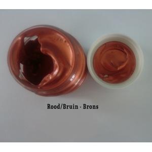 Metalverf Rood/Bruin - Brons
